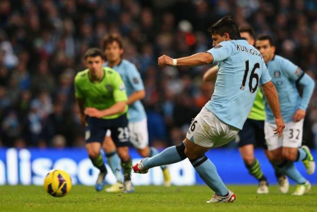En la segunda parte se destapó el City ayudado por los penaltis. Agüero...