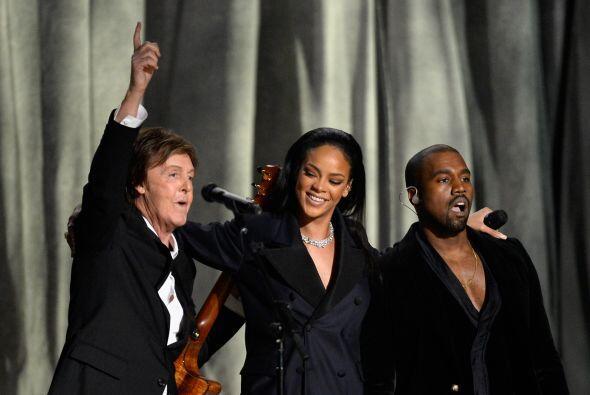 Paul McCartney, Rihanna y Kanye West tomaron el escenario con el tema 'F...