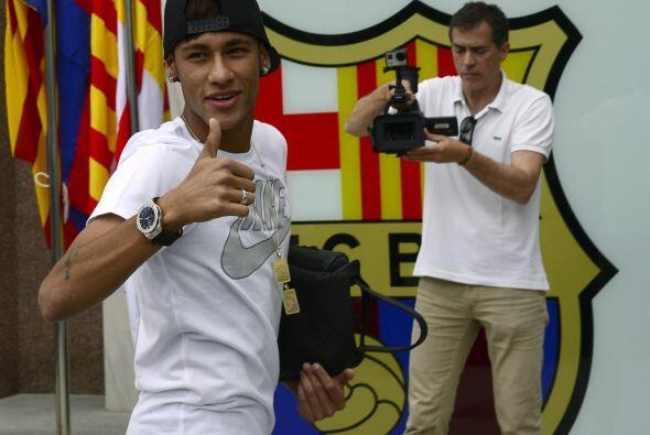 Neymar dejó en claro que su deseo era jugar con el cuadro 'blaugr...