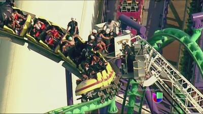 Un rescate de altura en el Six Flags de Maryland