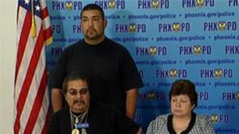 Familiares de la victima David Estrada