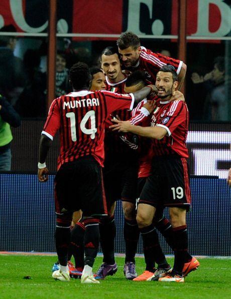 Milan ganó, festejó y sigue líder del Calcio.