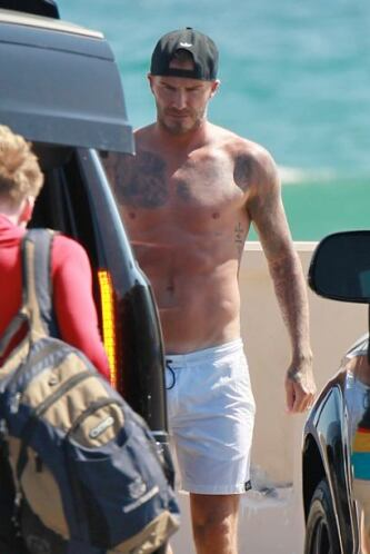 La ex estrella del soccer fue a disfrutar de la playa en Los Angeles.