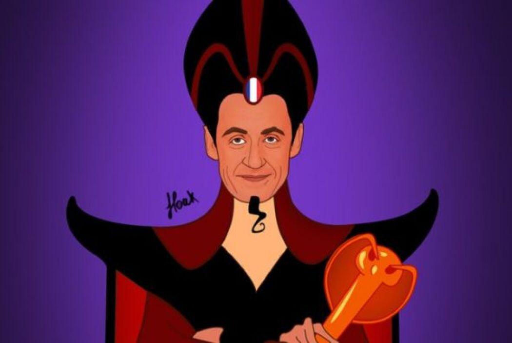 El expresidente Francia, Nicolás Zarkozy convertido en Jafar, el antagon...