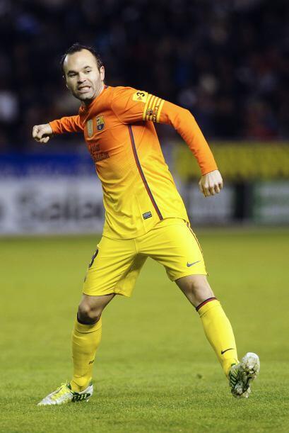 Andrés Iniesta aumentaría la ventaja con un golazo de campeonato.