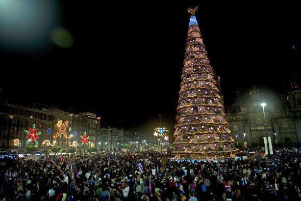 En México cientos de personas celebraron alrededor de este giantesco árb...