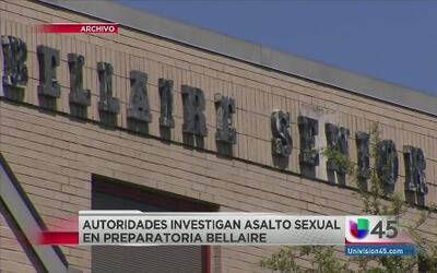 Investigan asalto sexual en la preparatoria Bellaire