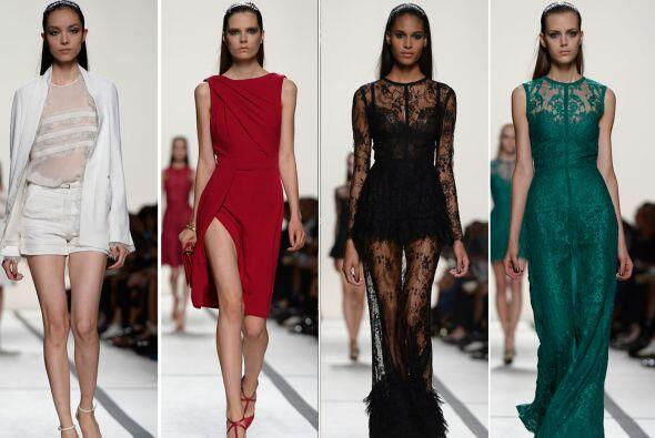 El diseñador libanés presentó su nueva colección primavera-verano 2014 e...