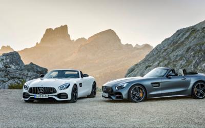 Los nuevos Mercedes-AMG GT Roadster y Mercedes-AMG GT C Roadster har&aac...