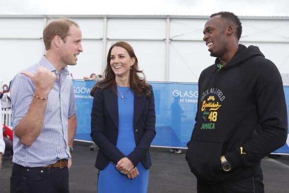 Los Duques de Cambridge conocieron a Usain Bolt.
