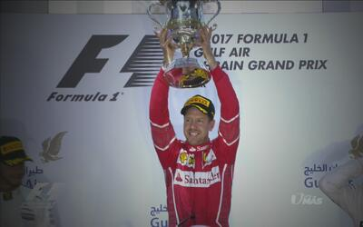 Vettel se luce en el GP Bahréin y se impone a Hamilton y Bottas