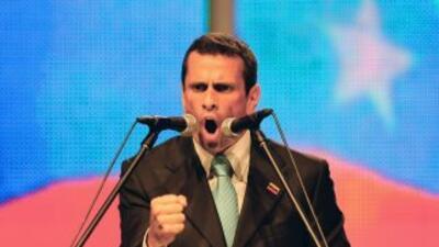 Henrique Capriles, candidato de oposición a la presidencia de Venezuela.