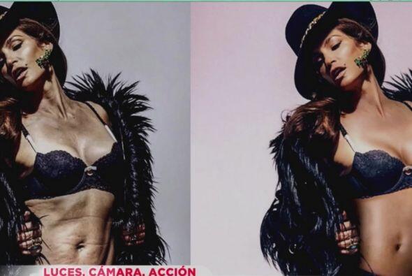 Esta es la supuesta foto que pone en duda la belleza de la modelo.