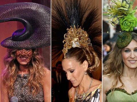 Sarah Jessica Parker se ha hecho famosa por los extravagantes sombreros...