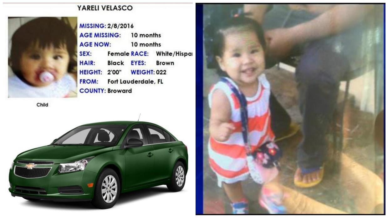 Bebé buscada mediante Alerta Amber en Miami
