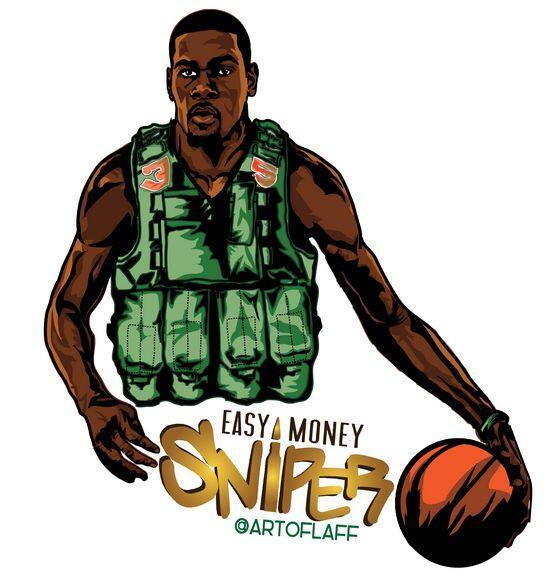 Kevin Durant, como 'Easy Money Sniper'