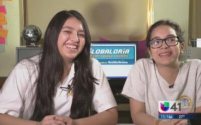 Dos jóvenes hispanas sobresalen en el campo de las ciencias