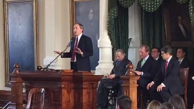 Ken Paxton tomó juramento como Fiscal General de Texas en una ceremonia...