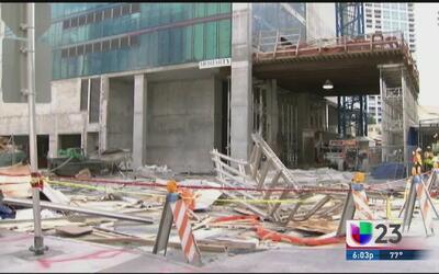 Autoridades de Miami suspenden las obras en Brickell tras el colapso de...