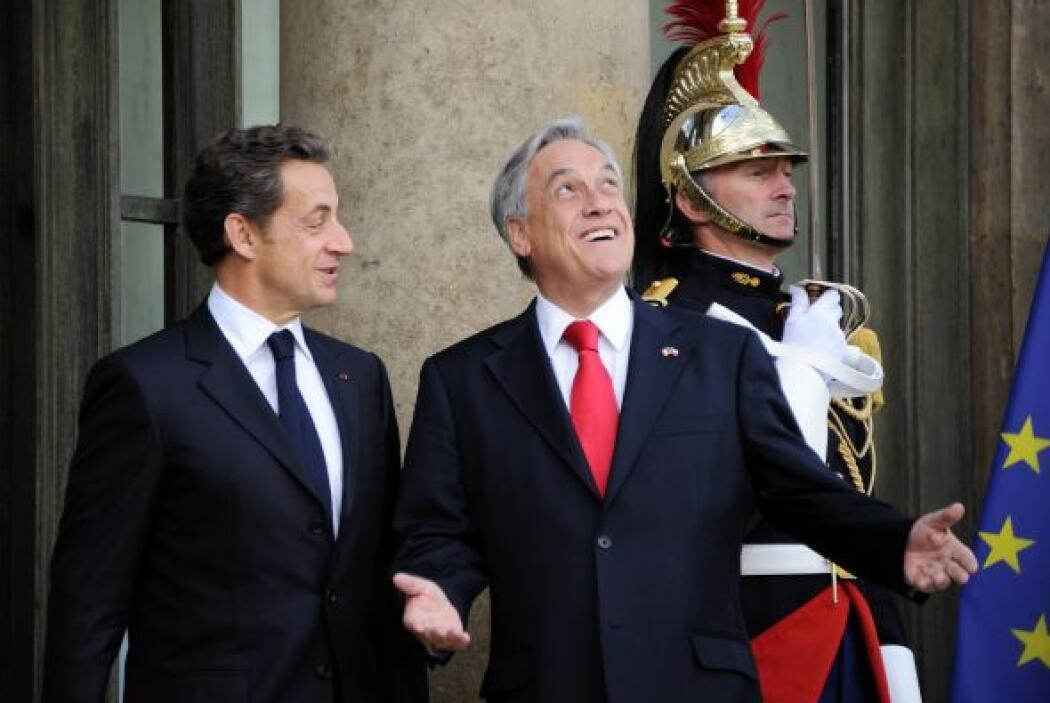 El presidente chileno y su homólogo francés, Nicolas Sarkozy, acordaron...