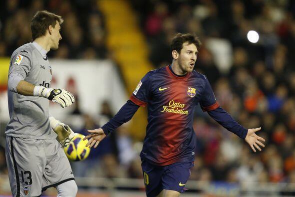Lionel Messi fue el encargado de cobrar la pena máxima.