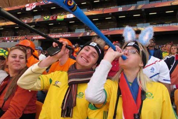Las vuvuzelas han sido la pesadilla o la alegría en las tribunas....