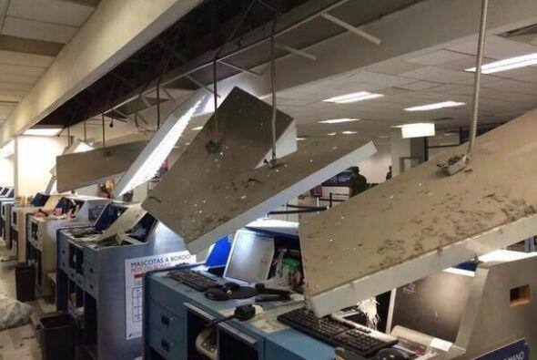 En México, se registraron daños en el aeropuerto de Tapach...