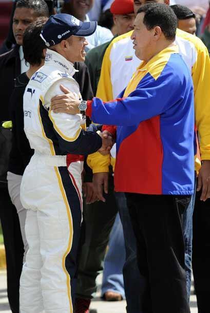 Chávez pidió a Maldonado mantener el nombre de Venezuela en alto.