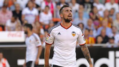 Alcácer marcó el primer gol del Valencia