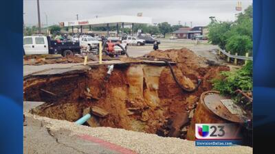 Fuertes lluvias dejan huella al norte de Texas
