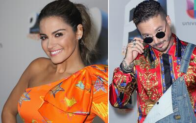 Maite Perroni y J Balvin exageraron con su look retro para Premios Juventud