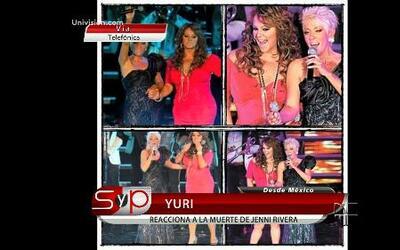 Yuri recordó con mucho cariño a Jenni Rivera en Sal y Pimienta