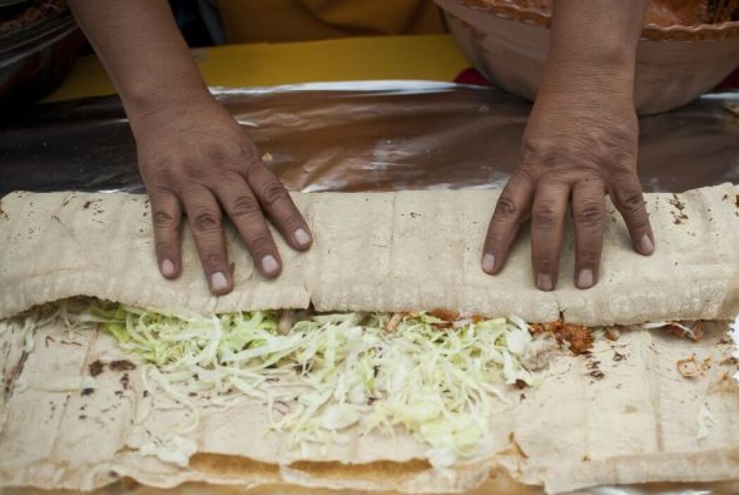 Las tortillas fueron hechas con masa fresca.