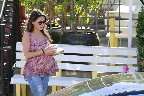 La bella actriz, de 30 años, sigue disfrutando de su embarazo y también...