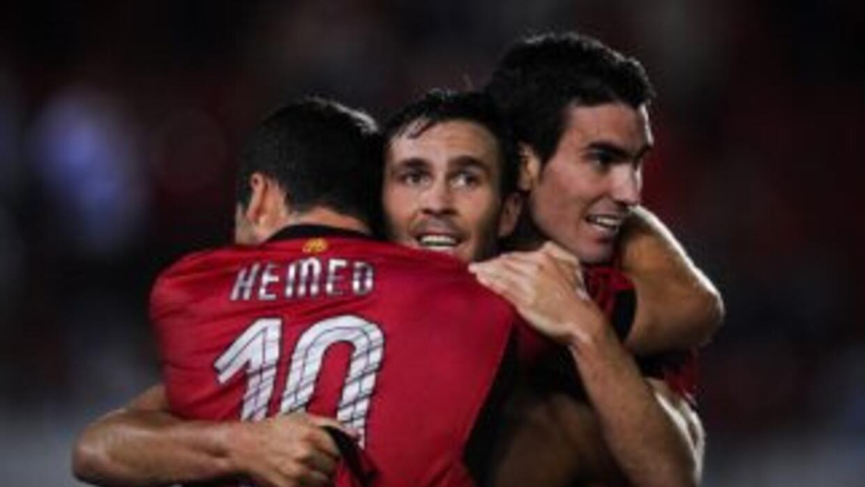 Alfaro hizo los dos goles del Mallorca ante Sevilla.