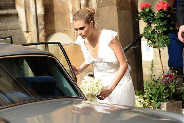 El 'bouquet' de flores que llevaron las 17 damas y la novia era del mism...