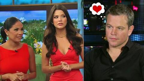 Lo que no olvida de Univision: Matt Damon recuerda a las bellezas de Des...