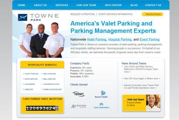 19. Towne Park  Sector de la industria: Hospitalidad.  Ejemplos de puest...