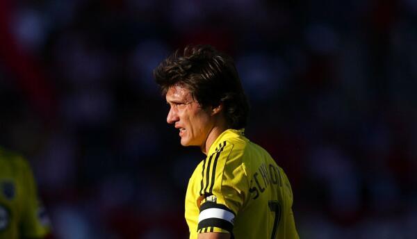 Guillermo Barros Schelotto fue capitán del Columbus Crew.