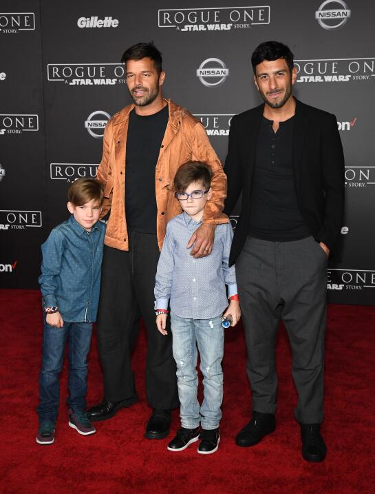 Ricky Martin con Matteo y Valentino