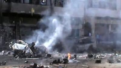 El avión no tripulado lanzó cuatro misiles contra un centro religioso fr...