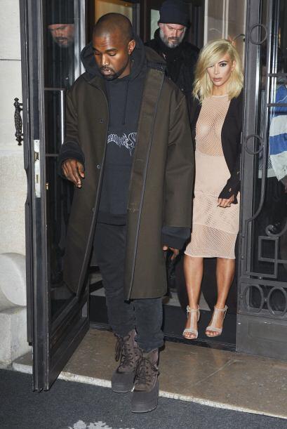 La pareja durante su estancia en París.