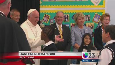 Papa Francisco visitó escuela de Harlem