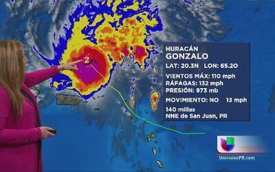 Gonzalo continúa alejándose de Puerto Rico