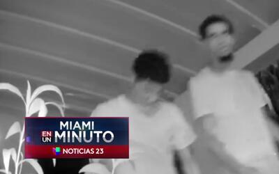 'Miami en un Minuto': policía de Miami Beach busca a los responsables de...