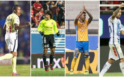 Michael Arroyo, Federico Vilar, Ismael Sosa y Jonathan Urretaviscaya.