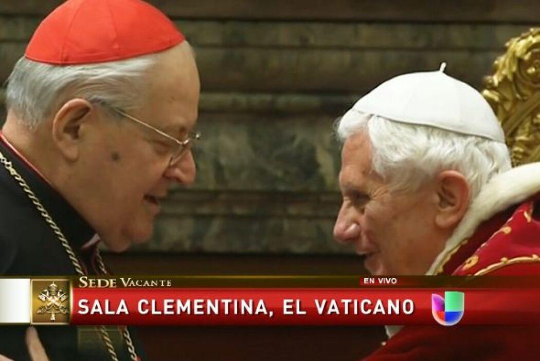 Quien en pocas horas dejará de ser el sumo pontífice dijo a sus cardenal...