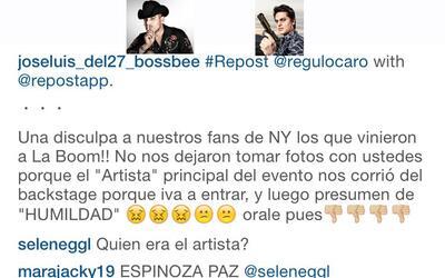 Pleito en el 'backstage' entre Regulo Caro Y Espinoza Paz en New York