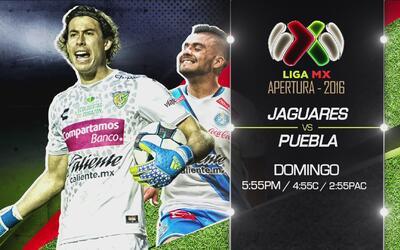 No te pierdas el encuentro Jaguares vs Puebla este domingo 28 de agosto...