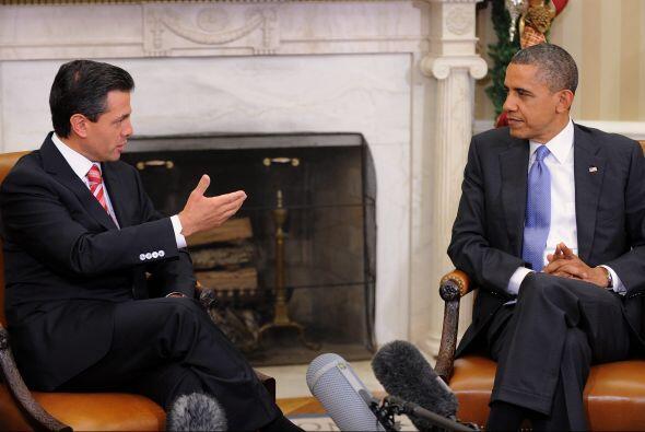 20.-Encuentro México-EEUU El 27 de  noviembre del 2012, el en ese entonc...